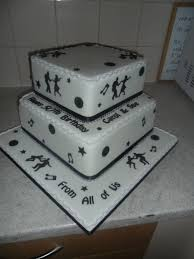 2 tier musical black white rock n roll birthday cake cakecentral com