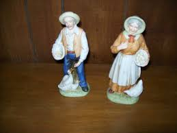 homco home interior figurines denim days mornging chores 1501
