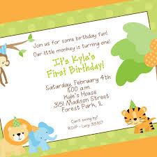 1st Birthday Invitation Card Samples Birthday Invites Wording Birthday Card Invitations