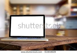 Table In Kitchen Empty Top Natural Wooden Table Retro Stock Photo 567163858