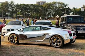 chrome lamborghini list five of the most eye catching wrapped super cars in india