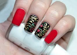 gold floral nail art tutorial маникюр хохлома роспись ногтей