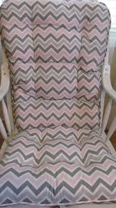 Grey Nursery Rocking Chair Glilder Or Rocking Chair Cushions Set In Grey Pink And White