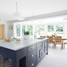 Open Plan Kitchen Diner Ideas Modern Kitchen Diner With Grey Island Gray Island Island