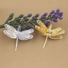 hair clasps 36 29mm vintage filigree dragonfly charms pendant bu yao