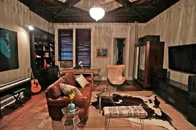industrial design decoration living room eclectic with parquet