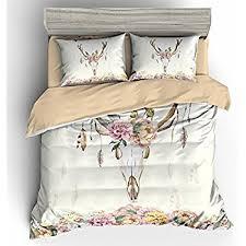 Ivory Duvet Cover Set Amazon Com 3 Pieces Dreamcatcher Duvet Cover Set Bohemian Dream