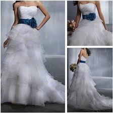 discount high low organza wedding dress 2015 scoop neckline