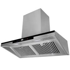 range hood with led lights kokols 36 in wall mount range hood in stainless steel with led