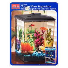 halloween fish tank background aqua culture 2 5 gallon corner aquarium kit 12 3