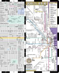 Cta Bus Route Map by Streetwise Chicago Map Laminated City Center Street Map Of