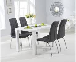 Gloss White Dining Table And Chairs White Table Chairs Dining Contemporary Designs Modern Wood Set
