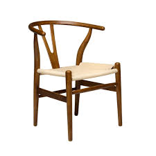 wishbone chair walnut woven cord