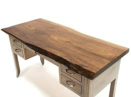 Small Walnut Desk Walnut Live Edge Desk Small The Island Gallery Bainbridge Walnut