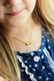 childrens gold necklace children s initial and heart necklace lowercase initial