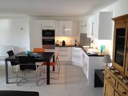 exemple cuisine ouverte ouverture cuisine salon photo indogate decoration interieur salon