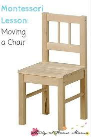practical life moving a chair sugar spice and glitter