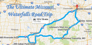 missouri caves map here is the ultimate missouri waterfalls road trip