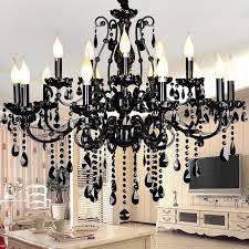 ladari sala da pranzo cristallo nero europeo soggiorno ladari di lusso ladari sala