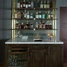 Wet Bar Mirror Backsplash Design Ideas - Bar backsplash