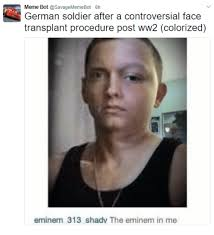 Meme Bot - german soldier after a controversial face meme bot transplant