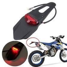 bicycle rear fender light off road motorcycle dual sport bike led rear fender brake tail light