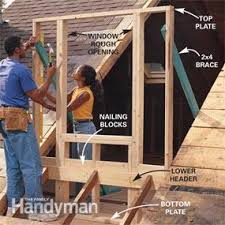How To Build Dormers In Roof How To Frame A Gabled Dormer Family Handyman