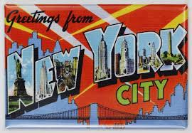 greetings from new york city postcard fridge magnet nyc the
