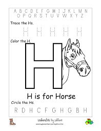 letter h preschool worksheets free worksheets library download