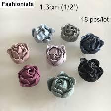 Handmade Fabric Crafts - tiny microfiber bud 1 3cm 1 2 mini flowers handmade