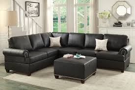 Sectional Sofa F7769 Cat 17 P20 2pc Sectional Sofa Black