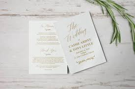 how to create wedding programs gold wedding programs wedding program template wedding program