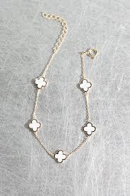 white gold leaf bracelet images White four leaf clover rose gold bracelet sterling silver jpg