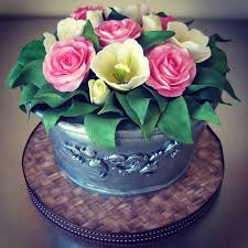 rose amp tulip bucket 85th birthday cake cakecentral com
