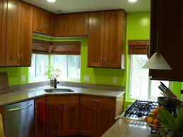 Painted Wooden Kitchen Cabinets Kitchen Ravishing Green Wall Painted Kitchen Decor With Maple