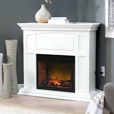 electric fireplace with mantle white corner w convertible infrared