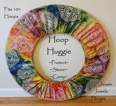 rainbow eye batik hoop huggie hula hoop by jessiejewelshoops