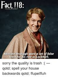 Kenneth Meme - fact dail kenneth branagh wore a set offalse teeth for his role as