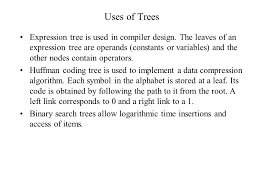 lecture 10 trees definiton of trees uses of trees operations on a