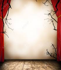 halloween fish background 13552034 horror stage with curtain halloween background frame