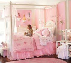 Girls Bedroom Decorating Ideas by Bedroom Purple Accent Girls Canopy Bed With Chair And Stool Also