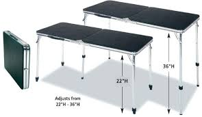 4 foot adjustable height table folding table counter height lifetime 4 foot adjustable height