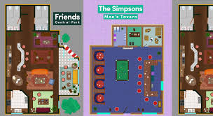 check out these tv show floor plans of the hangout spots from your
