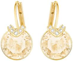 earrings gold v pierced earrings golden gold plating jewelry