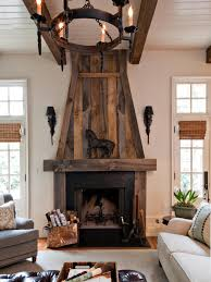 fireplace wood surround with awesome reclaimed wood fireplace