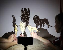 daniel u0026 the lions den 7 piece wood shadow puppet set