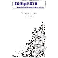 indigoblu anenome corner a6 red rubber stamp by indigoblu