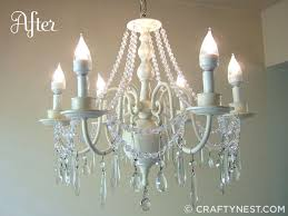 Tutorial On Diy Beaded Chandelier Chandelier Makeover The Tutorial Finally Crafty Nest