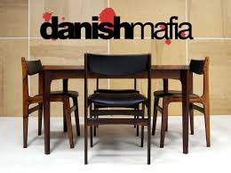 mid century danish modern rosewood complete dining table u0026 chair