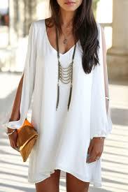 v neck plain loose a line cut out shoulder long sleeve mini